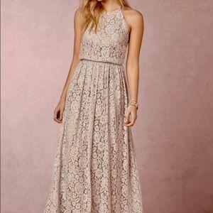 BHLDN Alana Blush Lace Dress by Donna Morgan